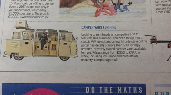 Sunday Times Travel Recommendation Press Clipping