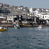Falmouth, Cornwall, as seen from the seaside