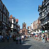 A view of Chesterfield, Derbyshire, England