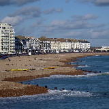 Eastbourne Beach Looking North East from the pier.