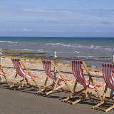 Empty Deckchairs - Bexhill No takers on this bright and breezy August day.