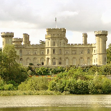 Eastnor Castle. By Robert Smirke, for John Somers Cocks, 2nd Baron Somers, and at vast expense. Begun in 1811 and completed in 1824, the house enjoys a wonderful position overlooking the lake and looks towards the Malverns. Set in fabulous parkland and with an interior full of interest, Eastnor makes a great day out.