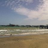 Sandown Pier at Isle of Wight (England)