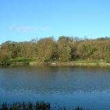Lake in Capstone Farm Country Park.