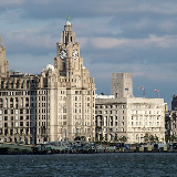 Liverpool (2008). Liverpool Pier Head, with the Royal Liver Building, Cunard Building and Port of Liverpool Building, as well as the Anglican cathedral in the background. Three Graces and Liverpool Cathedral. Pier Head. My Liverpool Home. Liverpool Pier Head, with the Royal Liver Building, Cunard Building and Port of Liverpool Building. The 'Three Graces' of Liverpool's Pier Head.