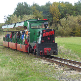 Narrow gauge railway at Woodhorn. A 2-foot gauge heritage railway runs for a little under 2 km from Woodhorn Museum to Lakeside Halt near the Premier Inn at the north end of the lake in Queen Elizabeth II Country Park. The 'Hunslet' locomotive originally operated on a surface railway at Murton pit in County Durha
