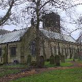 St Cuthbert's parish church, Bedlington, Northumberland, seen from the northeast