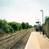 Bicester Town railway station in 2010
