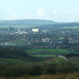 A view of Barnsley, South Yorkshire, England taken from Havercroft