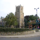 Market Hill and parish church, Haverhill, Suffolk