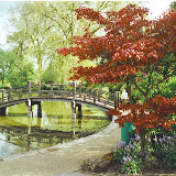 Stoke Park Pond, Guildford. The municipal park, bought by the borough in 1925, is now surrounded by houses as the town grew eastwards. Stoke village is still remembered by the local church, lock, mill, road of the same name.