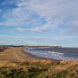 Sandhaven Beach, South Shields, South Tyneside. Tynemouth Priory can be seen in the distance. This image was taken on 26/12/2004 by Michael Smith (http://mikedavidsmith.com) on a Kodak CX7330 digital camera.