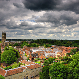 Warwick overview from the castle