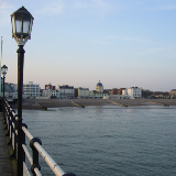 Worthing sea front from the pier In the centre of the picture is the Dome Cinema.
