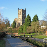 St. Mary's Church seen from Kidderminster Lock The lock is on the Staffordshire & Worcestershire Canal, which passes through Kidderminster. St. Mary's & All Saints' is the largest parish church in Worcestershire, and dates mainly from the 15th and 16th centuries.