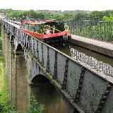 The Pontcysyllte Aqueduct on the Llangollen Canal, Denbighshire, Wales.