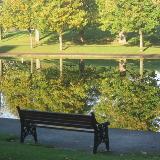 A bench in Eirias Park
