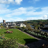 VIEW from the garden ofBrecon Castle hotel Castle Square, Brecon, Powys LD3 9DB 01874 623737