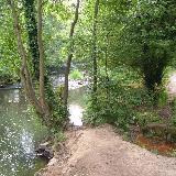 Afon Alun. The River Alyn in Alyn Waters Country Park / Parc Gwledig Dyfroedd Alun, close to Bradley Mill Bridge.
