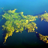 An aerial view of Sark.
