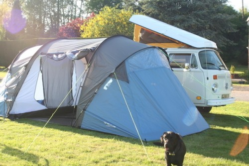 Florence with attachable tent