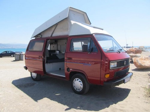 A VW T3 Campervan called Redpepper and Red Pepper for hire in alhaurín de la torre, Spain