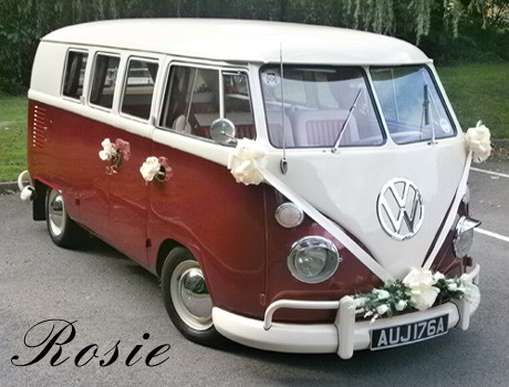 A VW T1 Splitscreen Campervan called Rosie-VW and Rosie for hire in stoke on trent, Staffordshire