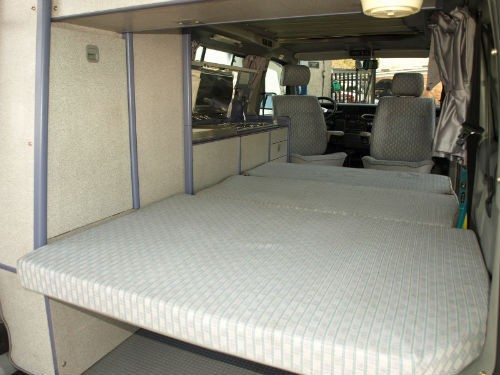 lower bed there is a factory supplied sliding seat bed.