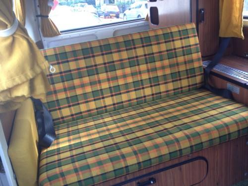 Nice tartan sofa that the Germans did so well