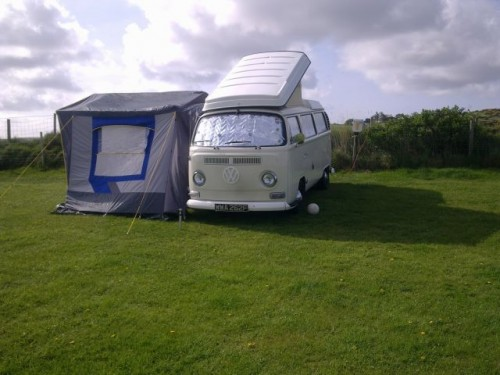 A VW T2 Classic Campervan called Begbie and Begbie in Abersock for hire in halifax, West Yorkshire