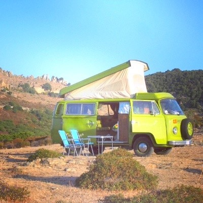 A VW T2 Classic Campervan called Anna and Pop top for hire in sassari, Italy