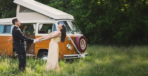 A VW T2 Classic Campervan called Tango and happy days for hire in falmouth, Cornwall