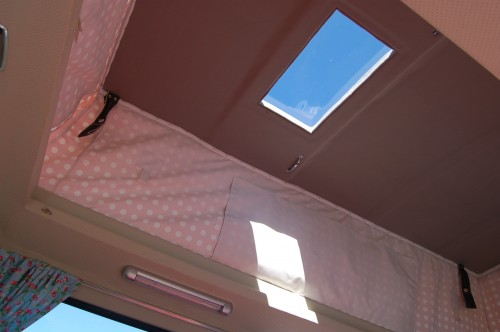 Sky light in the roof to watch the stars