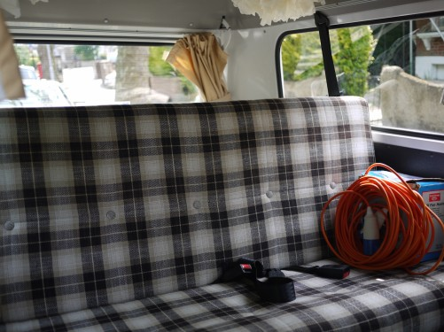 Back seat folds into rad double bed