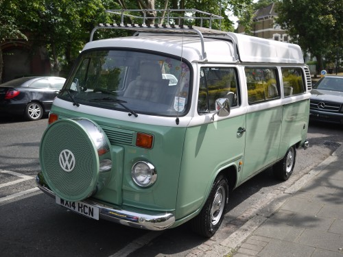 A VW T2 Brazilian Campervan called Viv and Viv's pretty face for hire in London, London