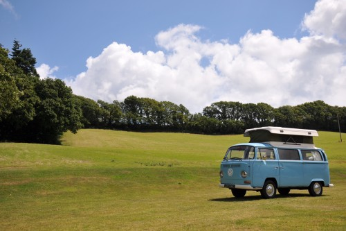 A VW T2 Classic Campervan called ErmintrudeT2 and The Great Outdoors for hire in exeter, Devon