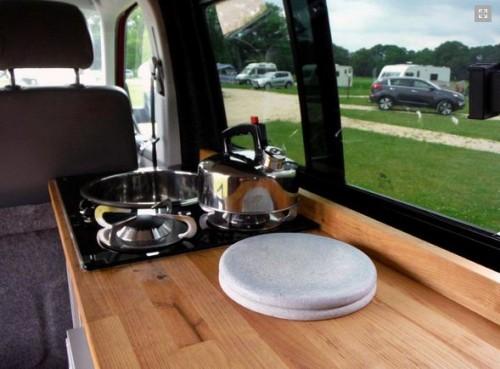 The van\'s interior view