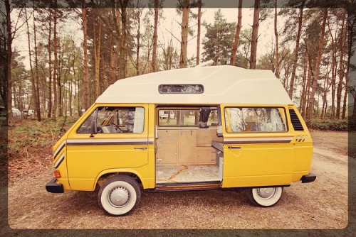 A VW T3 Campervan called the-colonel and The Colonel himself for hire in Banbury,Northamptonshire