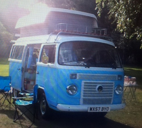 A VW T2 Brazilian Campervan called Barbara and Barbara the blue Danbury for hire in liverpool, Merseyside