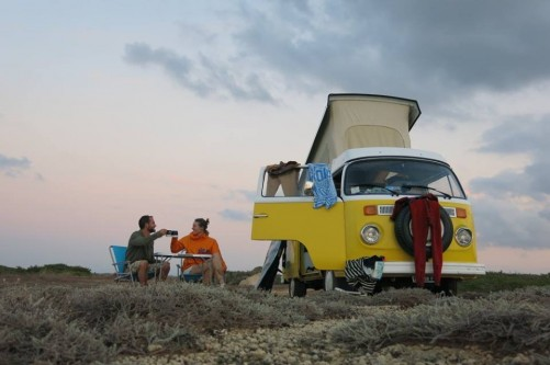 A VW T2 Classic Campervan called Charlie-75 and charlie 1 for hire in sassari, Italy