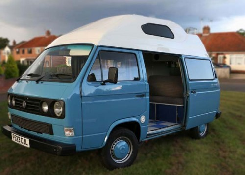 A VW T3 Campervan called Abbie and Hello for hire in hingham, Norfolk