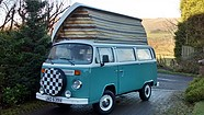A VW T2 Classic Campervan called Campbell and Campbell for hire in dollar, Scotland