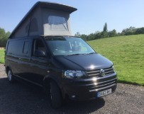A VW T5 Campervan called Indy and Lake view for hire in staines, Surrey