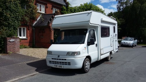 A OverCab Motorhome called Sylvie and 4 berth motorhome for hire in norwich, Norfolk