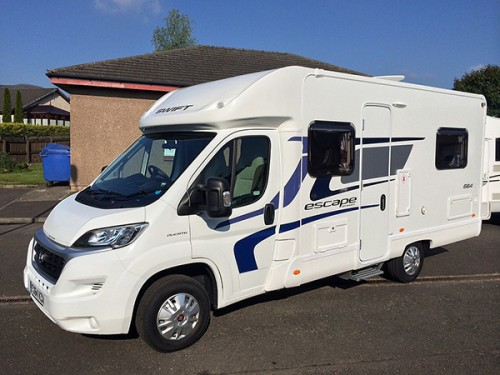 A Swift Motorhome called Swift664 and Isn't he handsome ? for hire in callander , Scotland