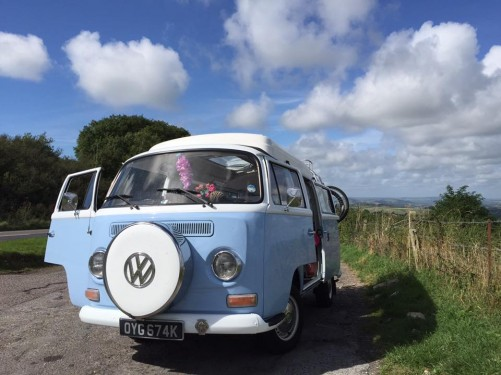 A VW T2 Classic Campervan called ErictheCamperVan and Down in darkest Devon for hire in winchester, Bedfordshire