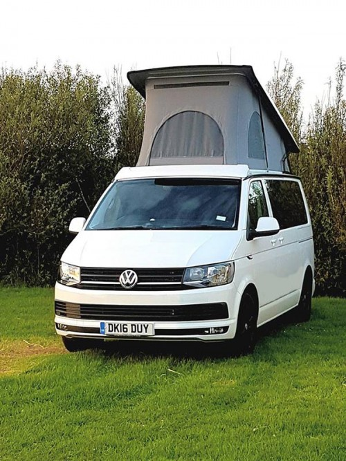 A VW T5 Campervan called Lassie and Face for hire in chester, Cheshire
