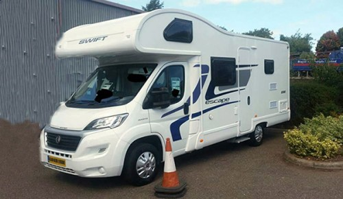 A Swift Motorhome called Annie and Annie for hire in st austell, Cornwall