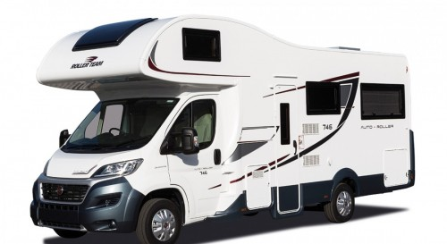 A Roller team Motorhome called Roller746 and Auto-Roller 746 Front 3 quarter view for hire in sheffield, South Yorkshire