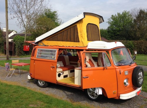 A VW T2 Classic Campervan called Dolly and All set up! for hire in birmingham, West Midlands